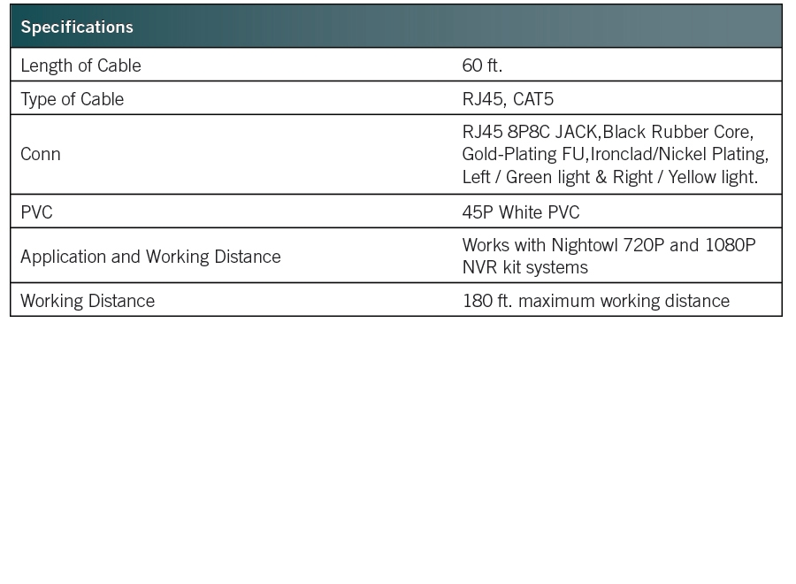cab-60poe specifications